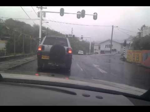 Driving through the rain in grenada