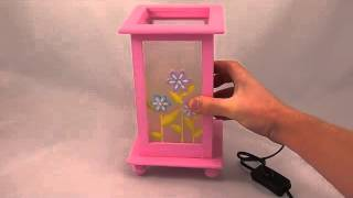 Pink Girls New Bedside Table Lamp, Great Gift Idea
