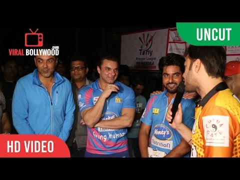 UNCUT - Tony Premiere League With Celebrities | Sohail Khan, Bobby Deol And Many