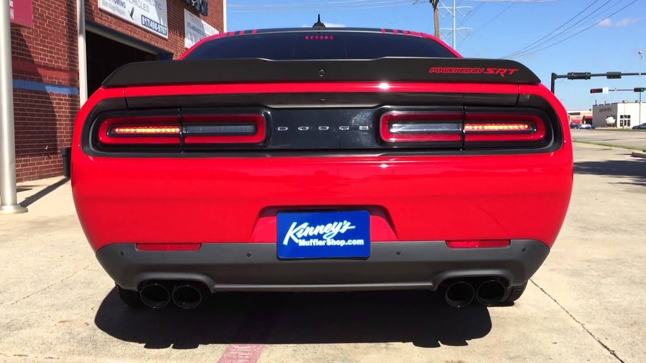 2015 challenger scat pack tunnel ram performance exhaust lacquer black quad tips