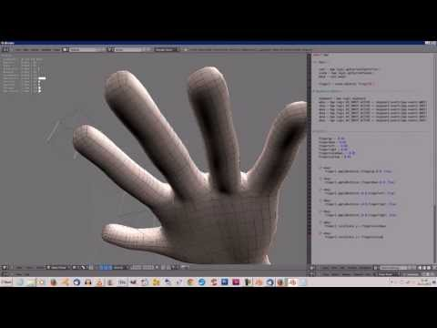 3d hand manipulation and implementation of a data glove in blender WIP.1 - Blender Game Engine