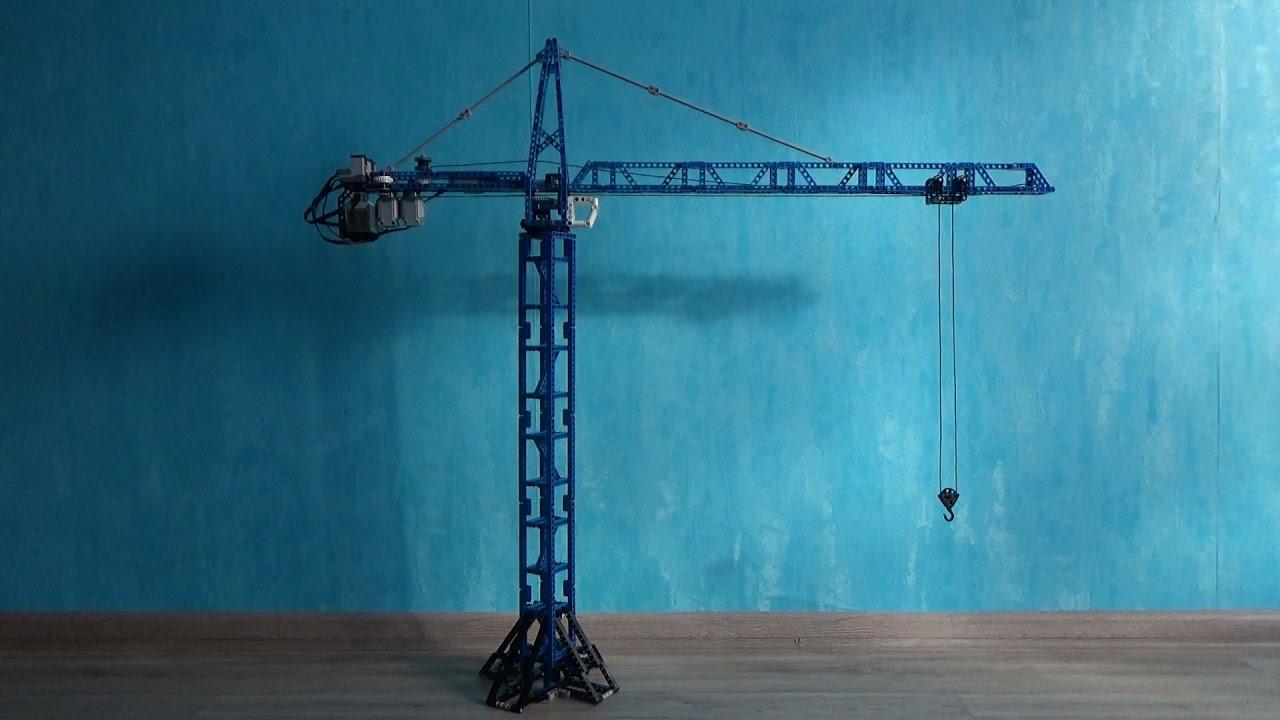 Lego Technic Tower Crane Rc Youtube