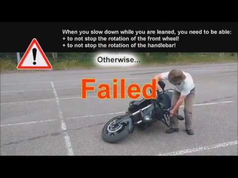Как поворачивать/делать радиус поворота меньше на мотоцикле