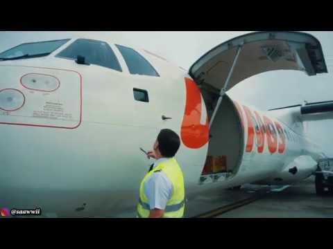 Terbang dari Kualanamu Medan ke Gunung Sitoli Nias | Cockpit / Pilot view