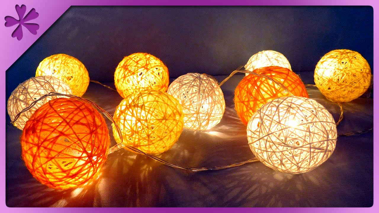 Diy Cotton Ball Lights Eng Subles