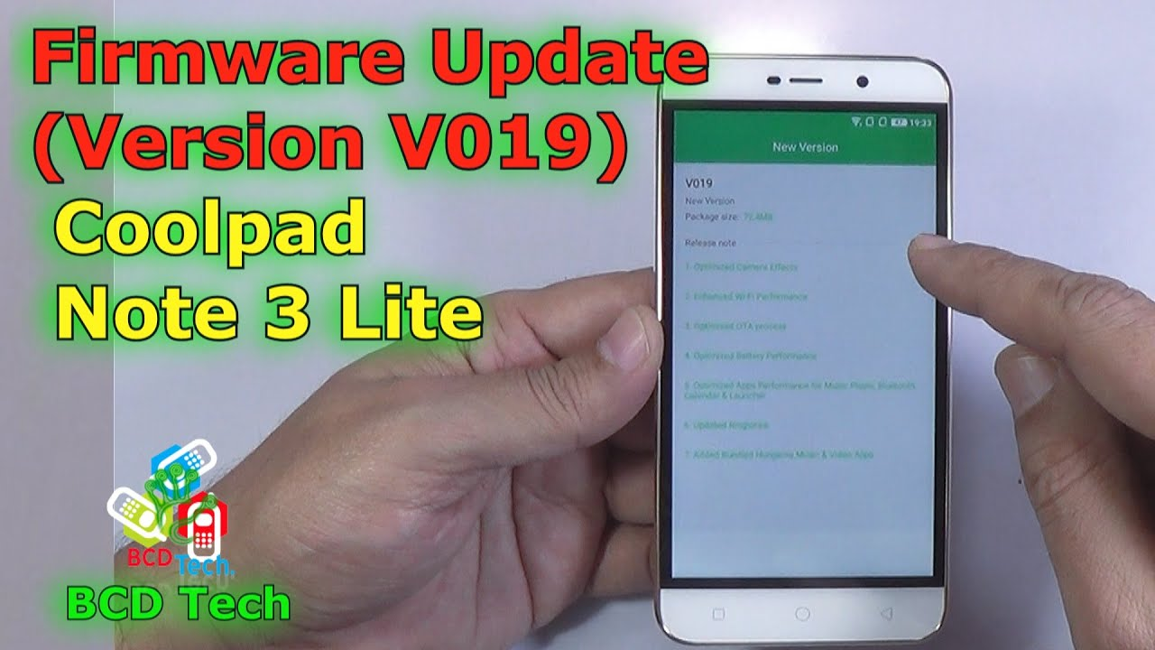 Coolpad Note 3 Lite V019 Update: Fix Bugs & Issues