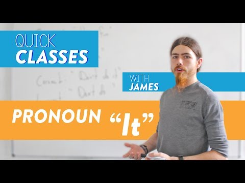 (Quick Classes) Pronoun 'It' - Learn English with NED Training Centre