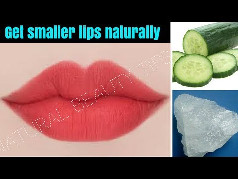 How to Make Big Lips Smaller Without Surgery Naturally    Get Lean & Small lips    NaturalBeautyTips
