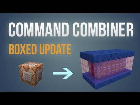 Minecraft Tool - Command Combiner Boxed update!
