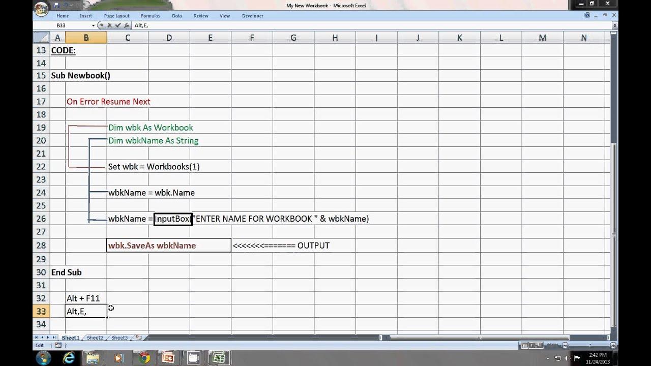 Excel 2010 Vba Name Of Active Worksheet - excel macro ...