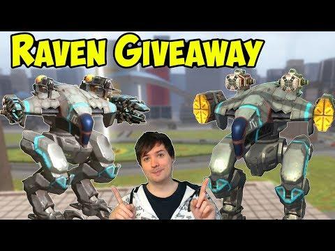 Legendary RAVEN Robot GIVEAWAY & Gameplay - War Robots WR