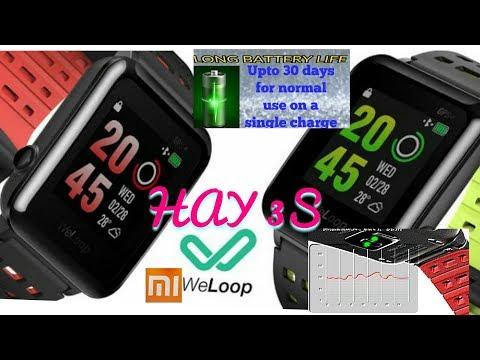 Heart rate sensor smart watch with 50 meters depth waterproof #xiaomi's WELOOP HAY 3S