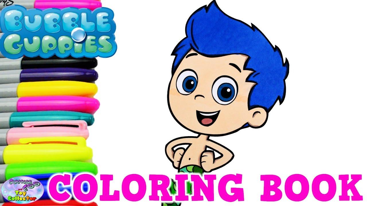 Bubble Guppies Coloring Book Nick Jr Show Gil Mermaid Surprise Egg ...