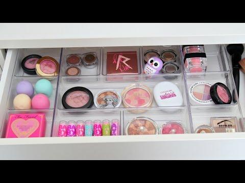 Vanity Makeover ~ Makeup Organization & Storage Ideas