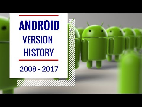 A Short History Of Android Versions (2008 - 2017): Android Versions History (2008 - 2017)| Android