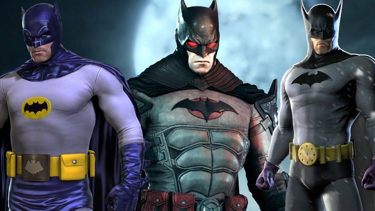 & Batman: Arkham Knight - All Costumes and Batmobile Skins - YouTube