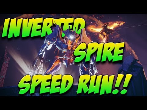 INVERTED SPIRE SPEED RUN!!! (6:53 LEFT ON TIMER) RAT KING EXOTIC QUEST!!!!