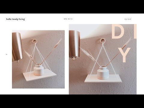 DIY Urban Outfitters Hanging Wood Shelves | Daiso Hack!