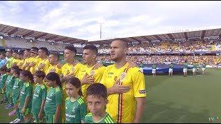Imnul Romaniei pentru tricolorii mici, in partida Anglia - Romania de la CE U21