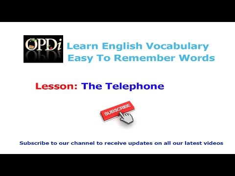 10. The Telephone   Oxford picture dictionary 2nd edition   Learn english vocabulary