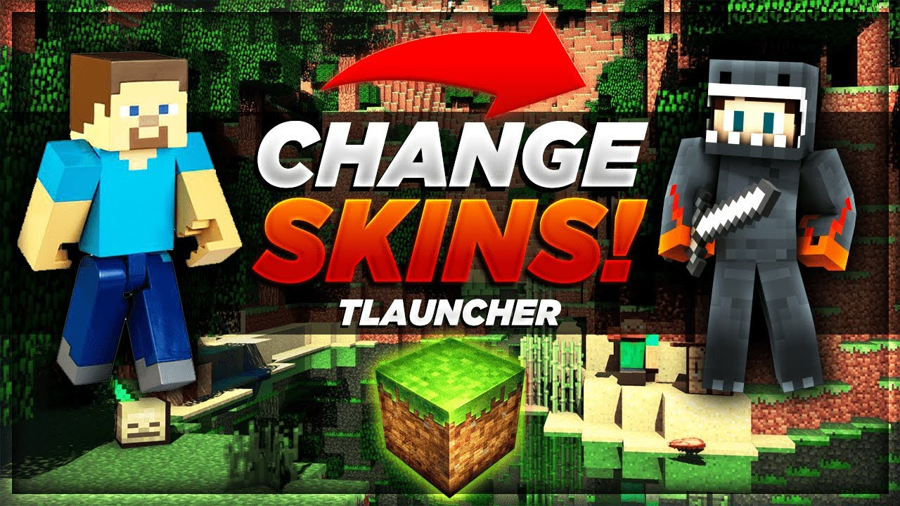 How to change Minecraft Skin! [Tlauncher - EASY - 10] - YouTube