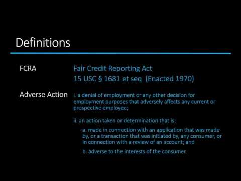 The FCRA Adverse Action Process