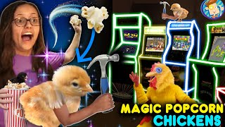 BASEMENT ARCADE SURPRISE from Magic Popcorn Chickens!  (FV Family Vlog w/ Random Clips)