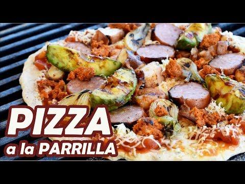 PIZZA A LA PARRILLA desde Cero | MASA, SALSA Y COCCIÓN