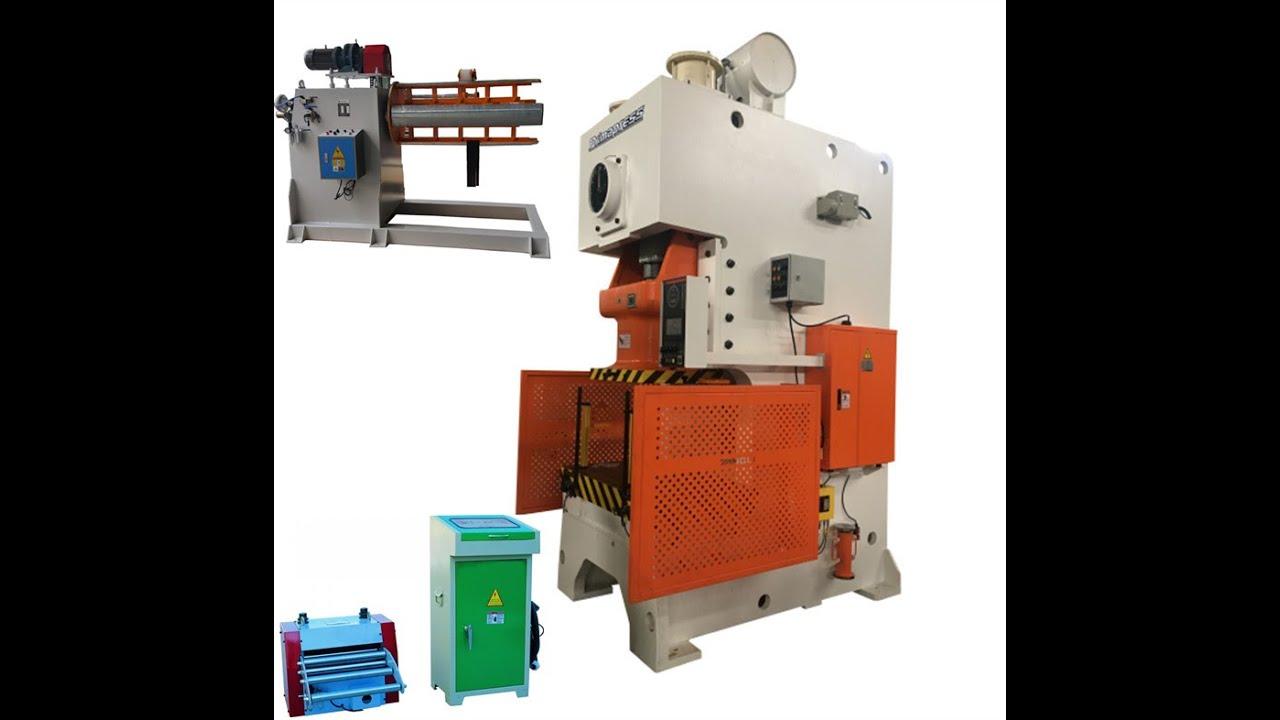 Automatic sheet metal hole punching machine line , hole power press machine