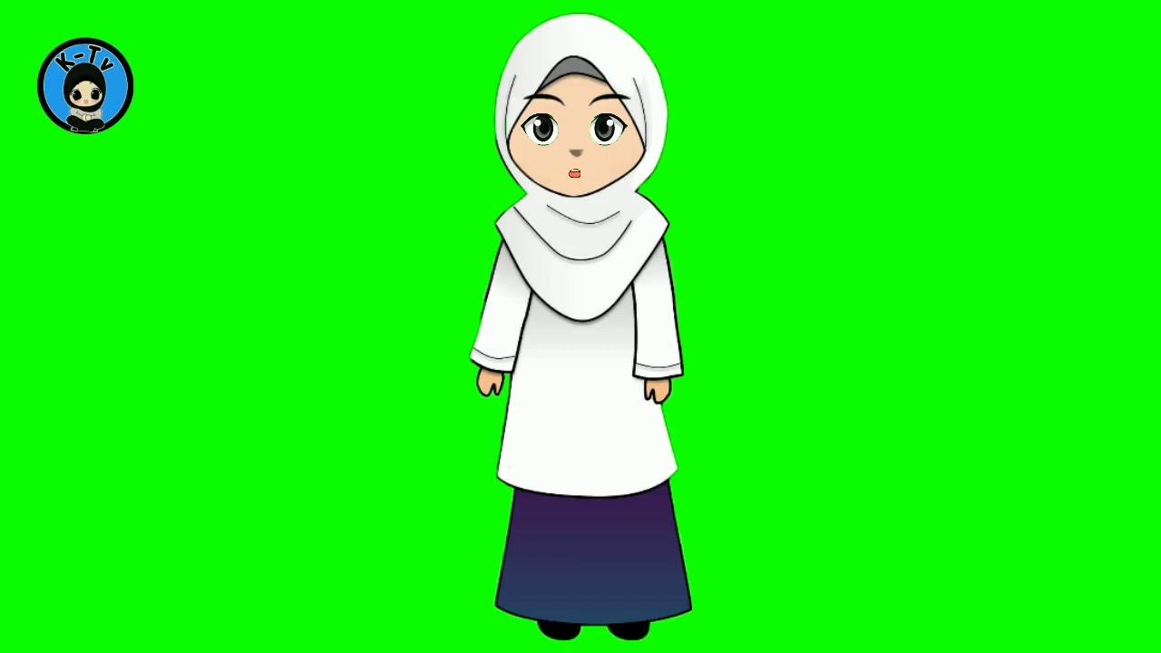 Gambar Animasi Bergerak Kartun Guru Muslimah Mengajar