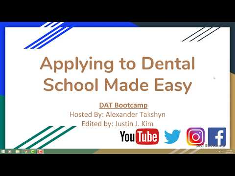 How to Have the Best Dental School Application!