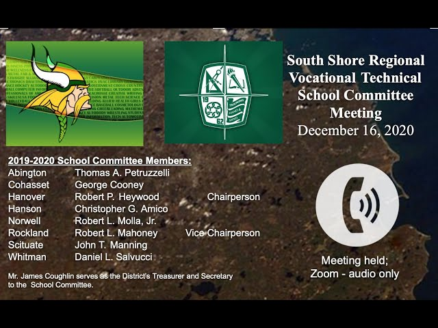 SSVT School Committee; Dec. 16, 2020