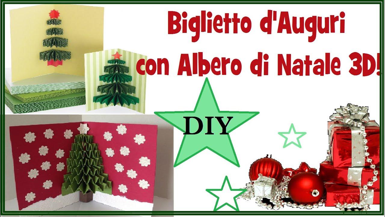 Auguri Di Natale 3d.Biglietto D Auguri Con Albero Di Natale In 3d Fai Da Te 3d Xmas