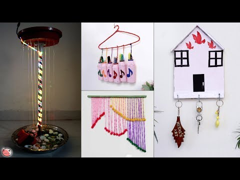 DIY Room Decor !!! 11 Room Decorating Ideas For Your Home || Key Stand, Wall Decor, Toran