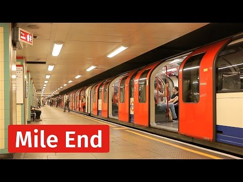 London Underground: Tight Action at Mile End Station