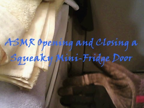[ASMR] Relaxing Squeaky Fridge Door To Achieve Closure