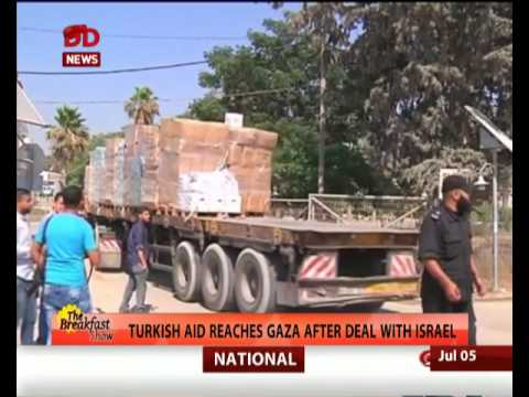 Turkish aid reaches Gaza Strip