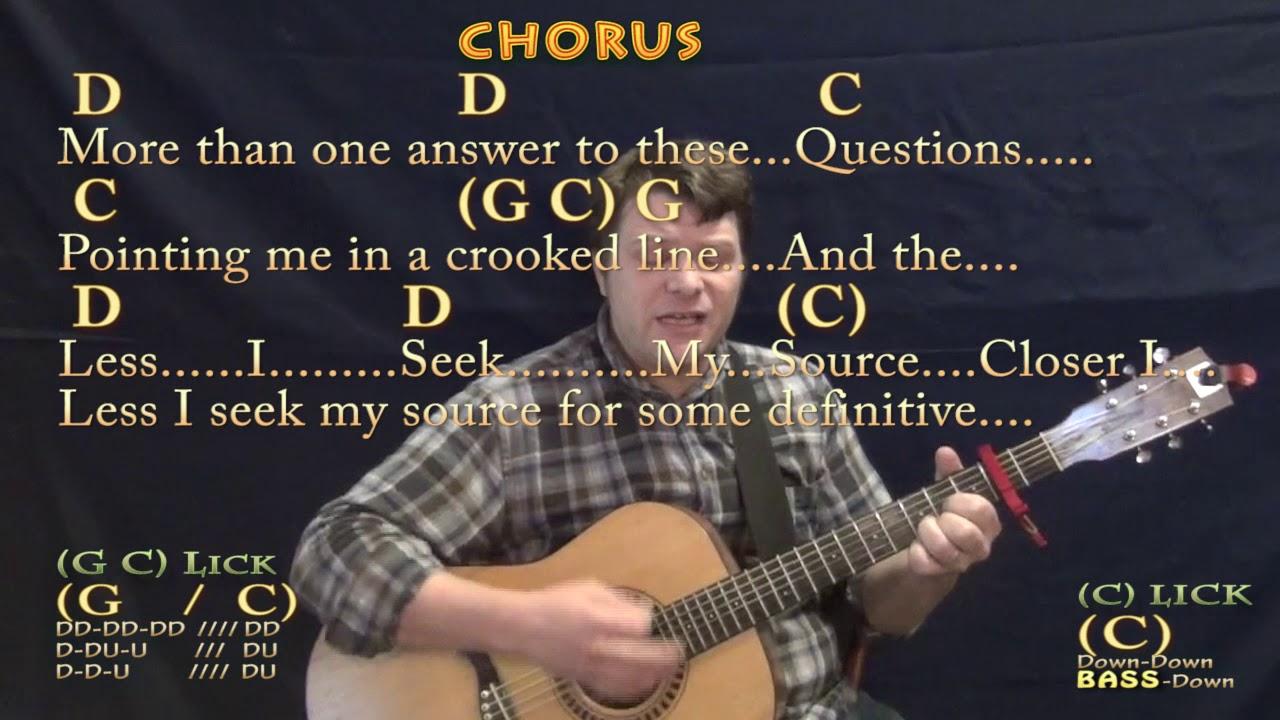 Closer to Fine Indigo Girls Strum Guitar Cover Lesson with Chords/Lyrics    Capo 15nd