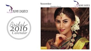 Cover images Alpha Digitech Bridal Calendar Photo Shoot 2016 November   Chandana Devraj