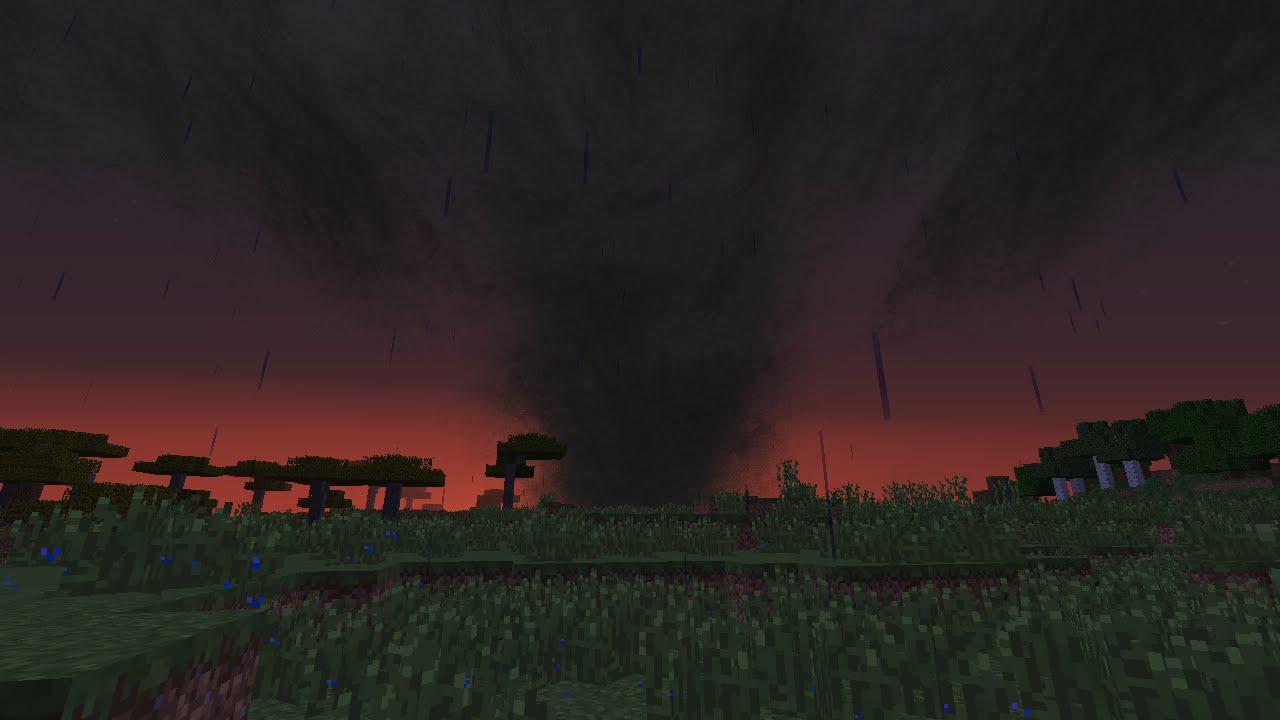 майнкрафт гіганський торнадо видио #11