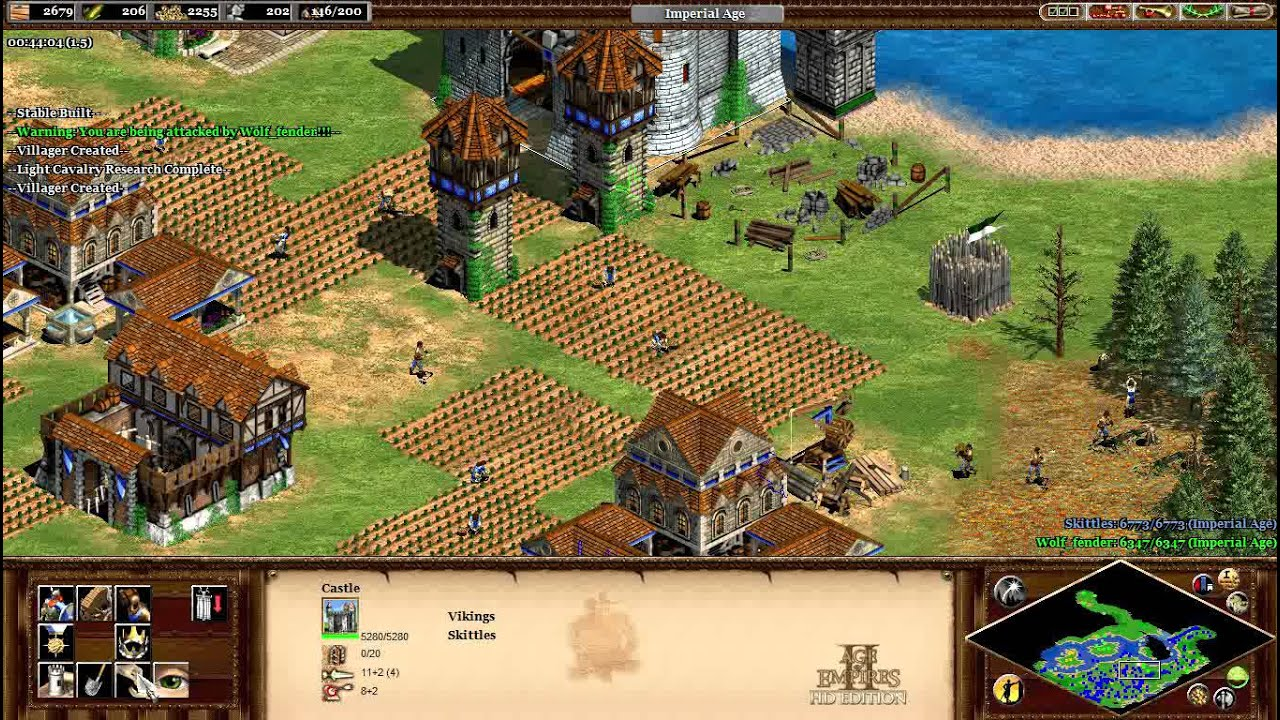 Age of Empires 2 HD – 1v1 Vikings vs Franks