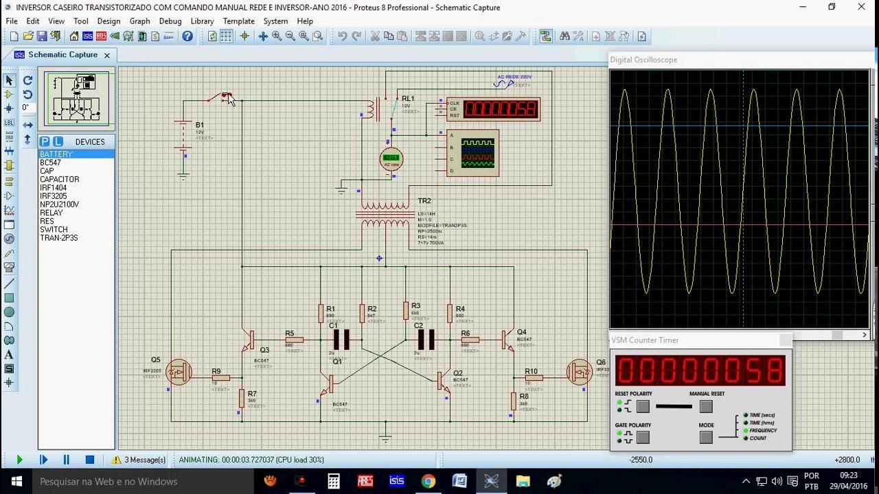 Circuito Ups : Esquema de inversor caseiro transistorizado com comando