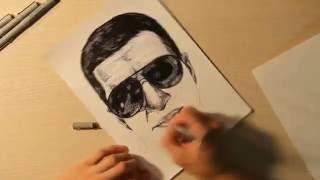 ДНЕВНИК ХАЧА / Амиран Сардаров - Graphic Max (pen portrait)