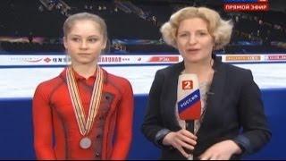 Юлия Липницкая о серебренной медали на чемпионате мира по фигурному катанию 2014