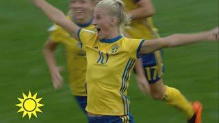 """Sverige klara för fotbolls-VM: """"Caroline Seger var magnifik""""  - Nyhetsmorgon (TV4)"""