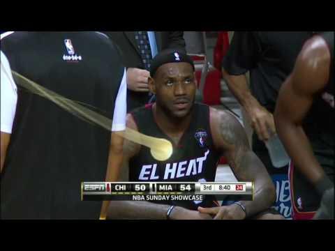 DERRICK ROSE LOSES LEBRON JAMES!! (Chicago Bulls vs Miami Heat) - HD