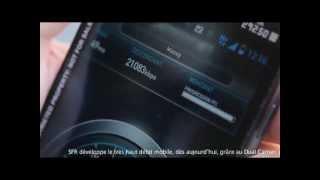 Speedtest sur le serveur de Massy avec la 3G+ SFR dual carrier