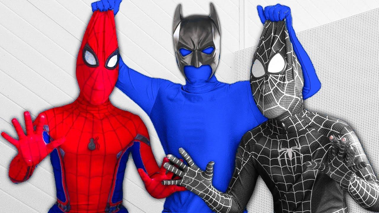 Download SUPERHERO vs BLUE-MAN | New Member Of The Color Team, Where is Venom? | Người Nhện Tìm Venom