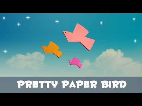 Pretty Paper Bird-how to make origami paper bird/tutorial by D Crafts