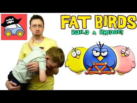 🐥 ТОЛСТЫЕ ПТИЦЫ. Необычные игры: Fat Birds Build a Bridge. Летсплей. Жестянка